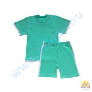 Комплект на мальчика (футболка+шорты) размер:22(62),24(74),26(80),28(98) состав: интерлок