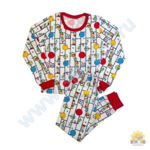 Пижама на мальчика размер:28-34 рост: 98-134 состав: футер