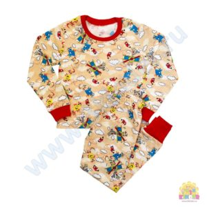 Пижама на мальчика размер:28-34 рост: 98-134 состав:фланель