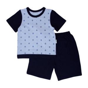Костюм на мальчика (футболка+шорты) размер:22-28 рост:62-104 состав: интерлок