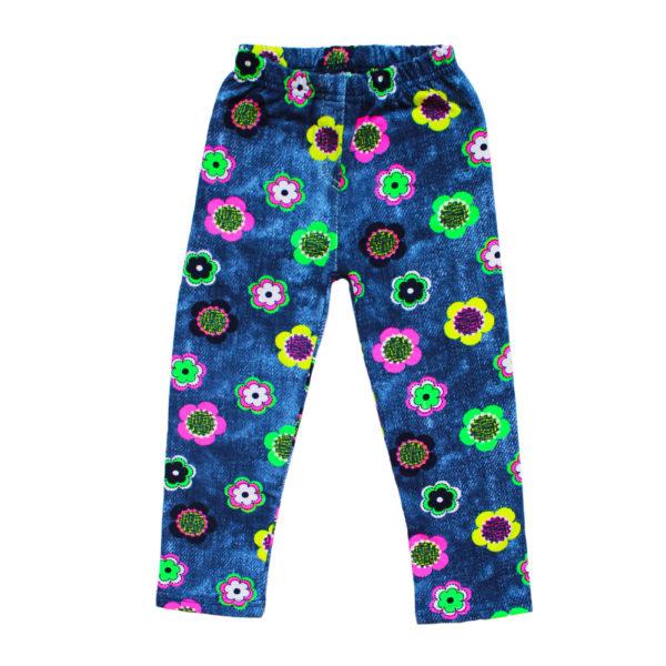 ЛД 204-1 джинс-цветы