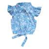 БД-005 цветы/св.голубые с рябью