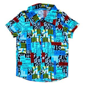 Рубашка для мальчика размер: 26-36 рост: 98-140 состав: хлопок 50%,полиэстер 50%