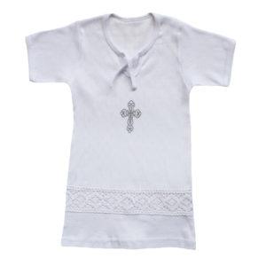 Крестильная рубаха размер: 20-22 рост: 56-74 состав: рибана