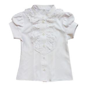 Блузка с кружевом размер: 30-36 рост: 116-152 состав: Блузка размер: 30-36 рост: 116-146 состав: вискоза 40%, полиэстер 60%