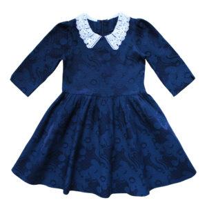 Платье (рукав 2/3) размер: 30-36 рост: 116-146 состав: Хлопок 60%, полиэстер 35%, эластан 5%