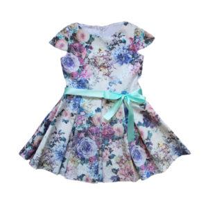 Платье на девочку размер:28-34 рост:  104-140 состав: подклад - вискоза 70%, полиэстер 30%; Верх- хлопок 65%, полиэстер 35%