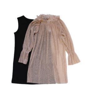 Платье на девочку размер:30-36 рост: 116-146 состав: нижнее платье-хлопок 100%, верхнее платье-полиэстер 100%